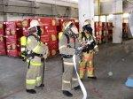 Пожарные «тушили» минплиту