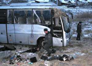 В результате аварии автобуса погибло шесть человек