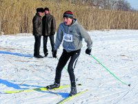 Лыжные забавы на зимней реке