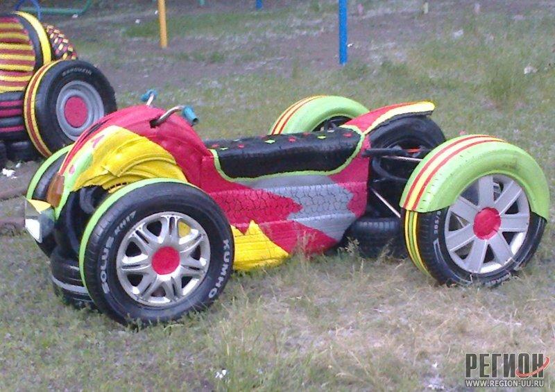 Поделки из всего колес у этих машин