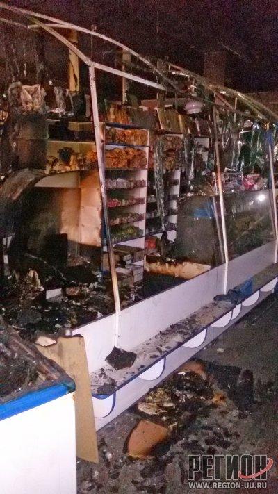 Во втором микрорайоне горел мини-рынок