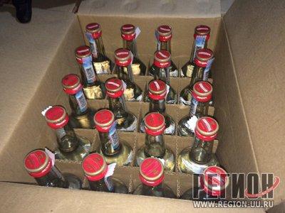 В Троицке задержали крупную партию контрабандного алкоголя