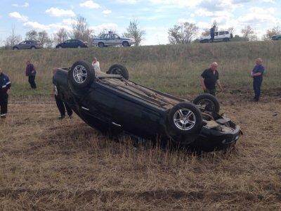 Автоледи погибла, опрокинувшись в кювет на иномарке