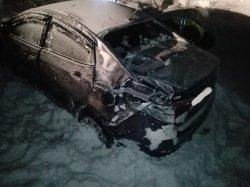 Под Троицком автомобиль слетел в кювет