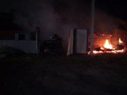 Ночной пожар на Железнодорожной улице