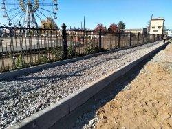 Реконструкция парка: вместо демонтированных асфальтовых тротуаров возводят новые